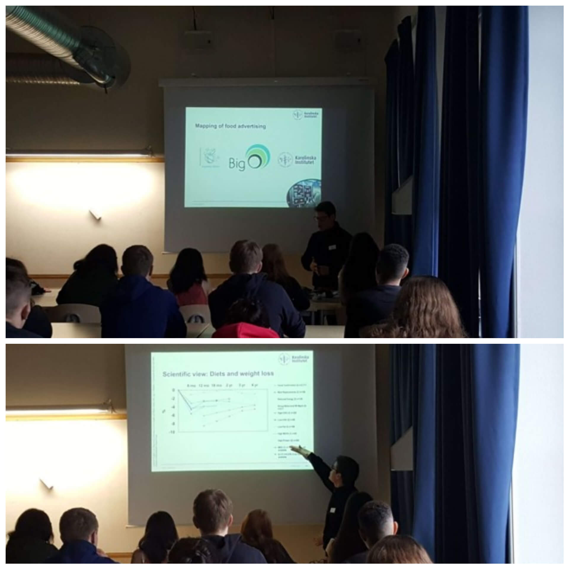 KI researchers discussed the challenge of childhood obesity with students of IES in Stockholm, Sweden