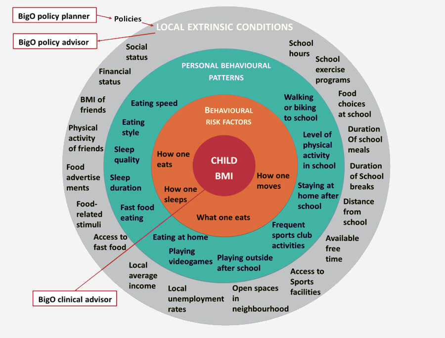 The contextual BigO model of the childhood obesity matrix